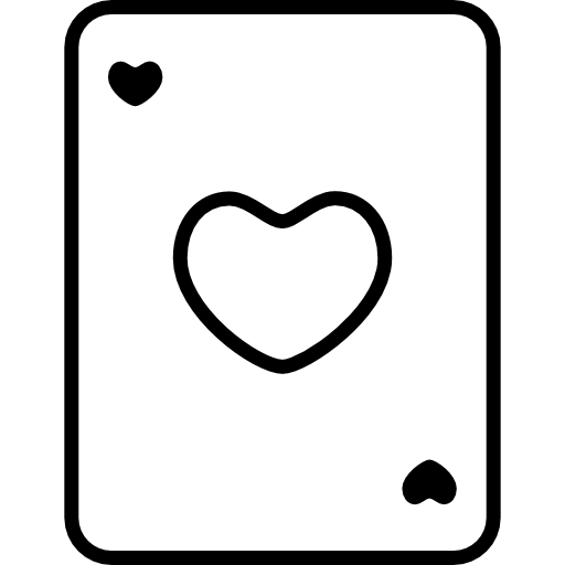 Heart Playing Card Outline
