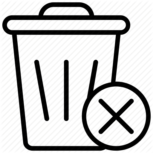 Dustbin, Garbage Bin, Junk Bin, Trash Bin, Trash Can Icon
