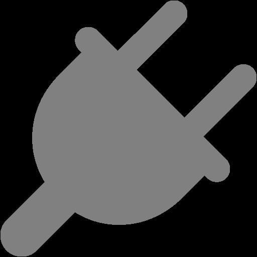 Gray Plug Icon