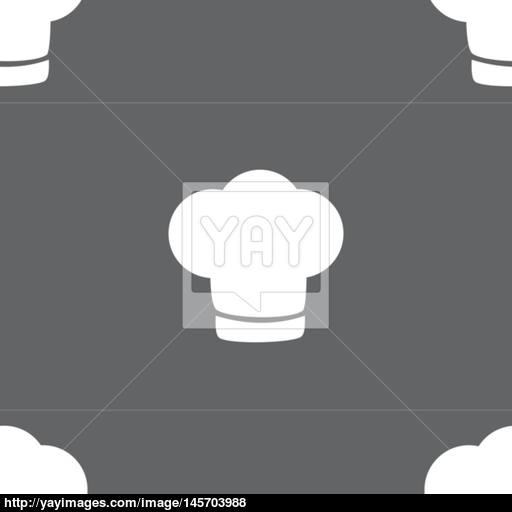 Chef Hat Sign Icon Cooking Symbol Cooks Hat Seamless Pattern