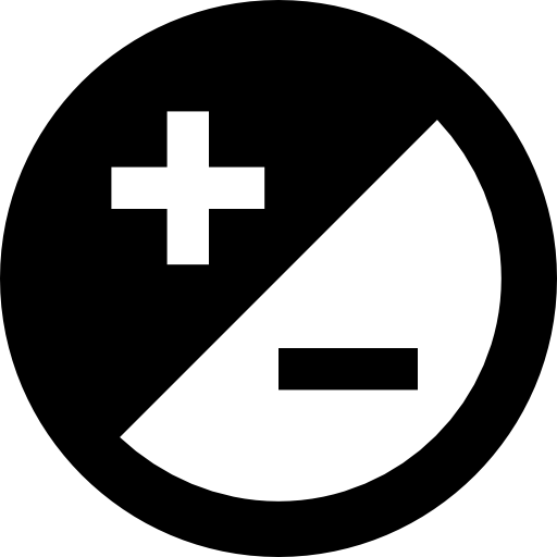 Rounded Adjust Button With Plus And Minus