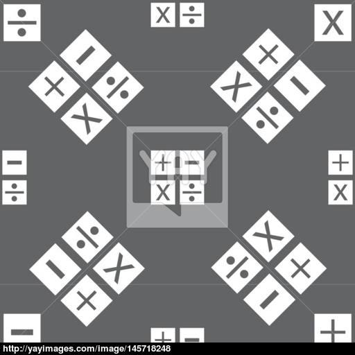 Multiplication, Division, Plus, Minus Icon Math Symbol Mathematics