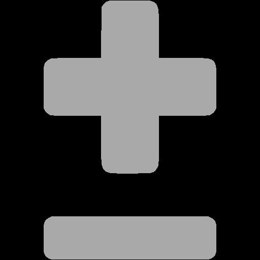Dark Gray Plus Minus Icon