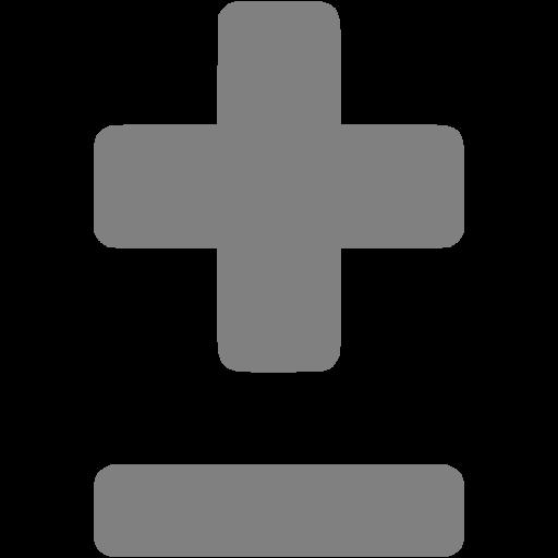 Gray Plus Minus Icon