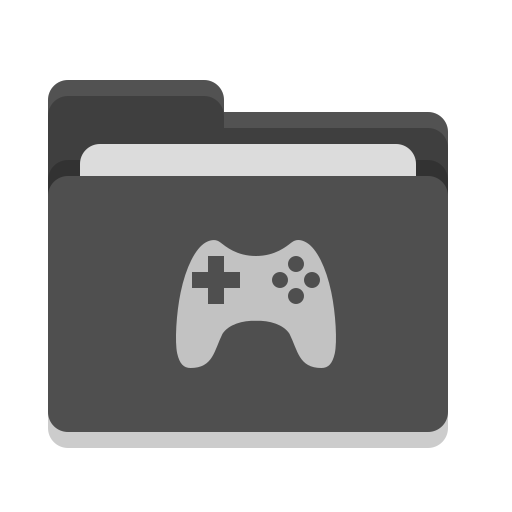Folder, Black, Games Icon Free Of Papirus Places