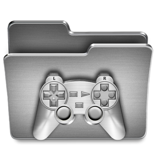 Games, Folder Icon Free Of Steel System Icons