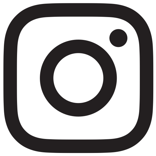 Black White Instagram Logo Transparent Icon
