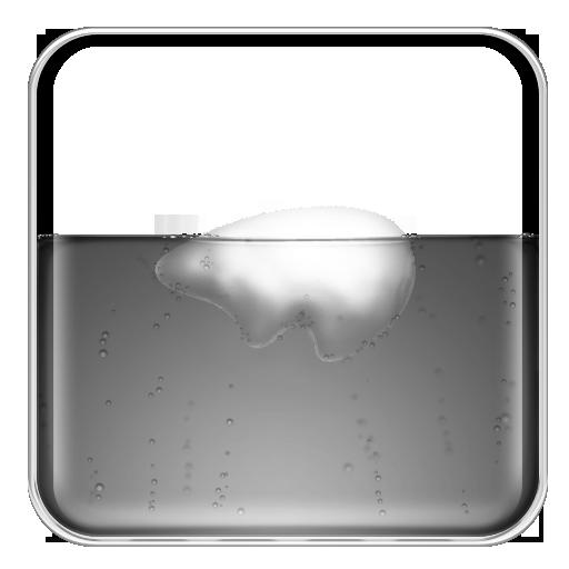 Grey Coke Polar Bear Icon