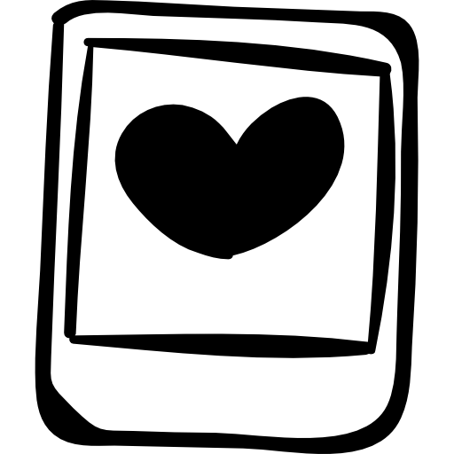 Polaroid Photo With Heart Icons Free Download