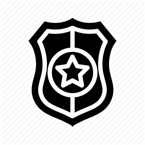 Justice, Law, Legal, Police Badge Icon