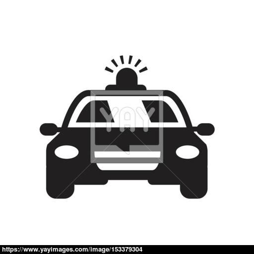 Police Car Vector Icon Vector