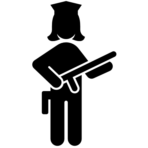 Female Police Officer With A Gun Icon Download Free Icons
