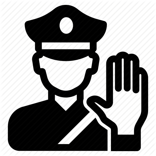 Authority, Enforcement, Law, Officer, Police, Stop, Traffic Icon