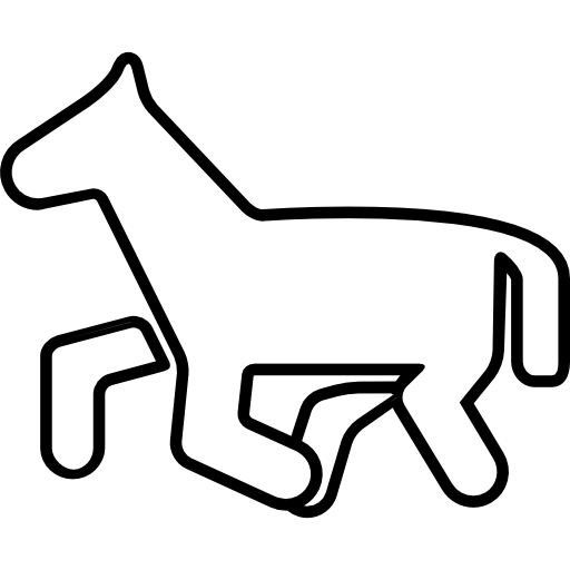 Horse Pony Cartoon Outline Icons Free Download