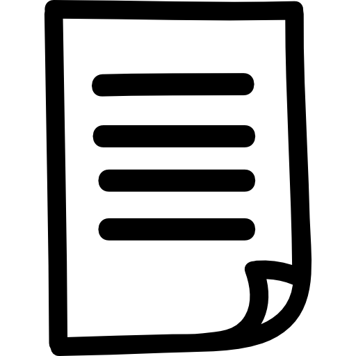 Paper List Hand Drawn Symbol Icons Free Download