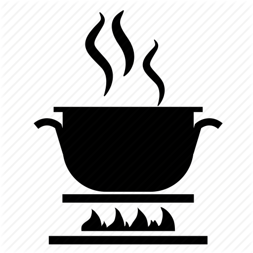Cooking, Cooking Pot, Cooking Pot On Stove, Fire Flame, Stove Icon