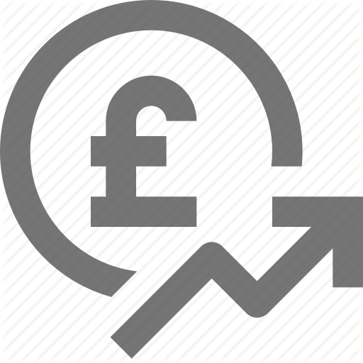 Arrow, Currency, Finance, Money, Pound, Rising, Stock Icon