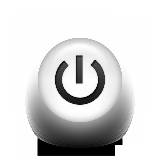 White Power Button Icon