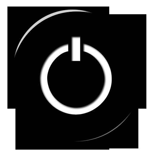 Black Power Button Icon