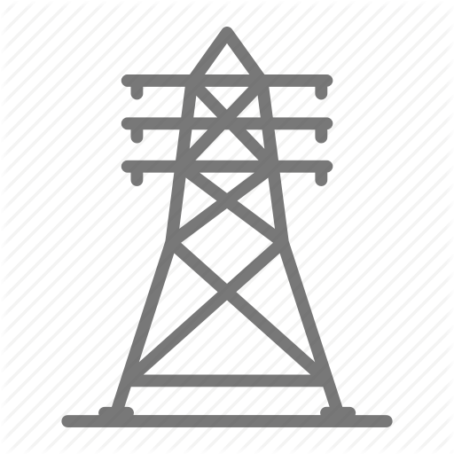 Electricity, Grid, Line, Power, Transmission, Voltage Icon