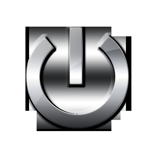 Metallic Power Button Icon
