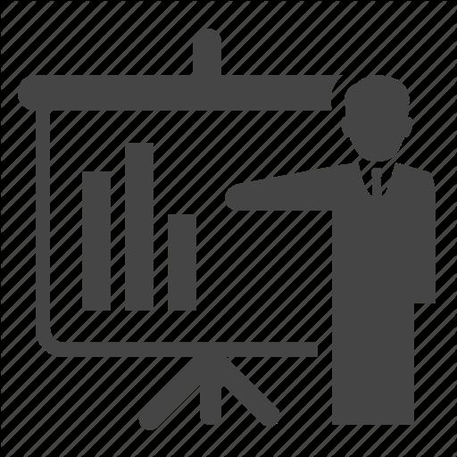 Analytics, Powerpoint, Presentation, Report Icon