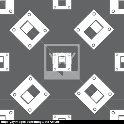Power Switch Icon Sign Seamless Pattern On A Gray Background