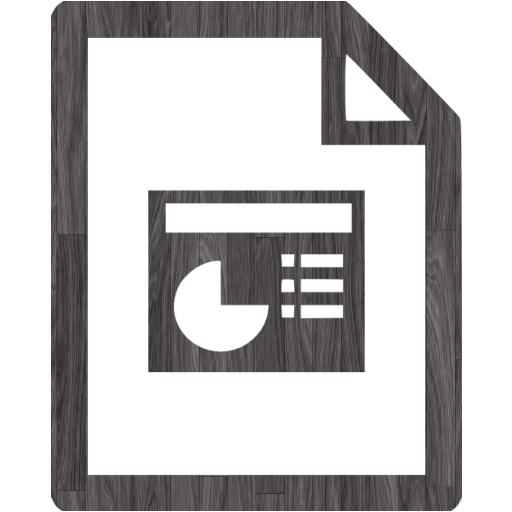 Black Wood Powerpoint Icon