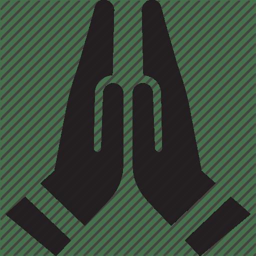 Facebook Icon Praying Hands Symbol