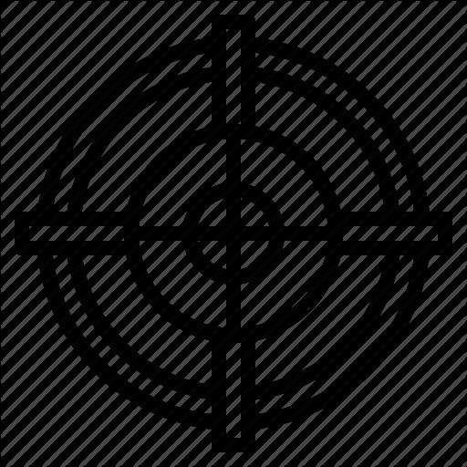 Crosshair, Focus, Goal, Precision Icon