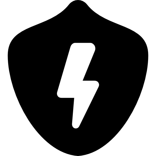 Badge With Lightning Icons Free Download
