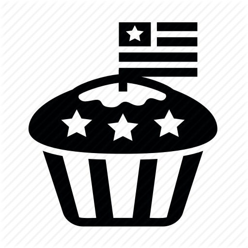 Cupcake, Day, Flag, Presidents, Stars, Usa Icon