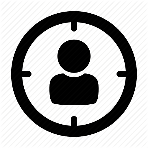 Aim, Bullseye, Employee, Person, Prey, Target, Victim Icon