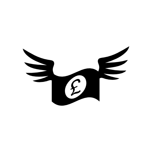 Winged Pound Notes Icon Download Free Icons