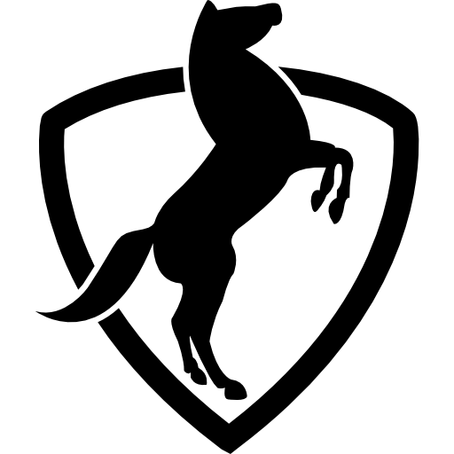 Stand Up Horse With A Shield Icons Free Download