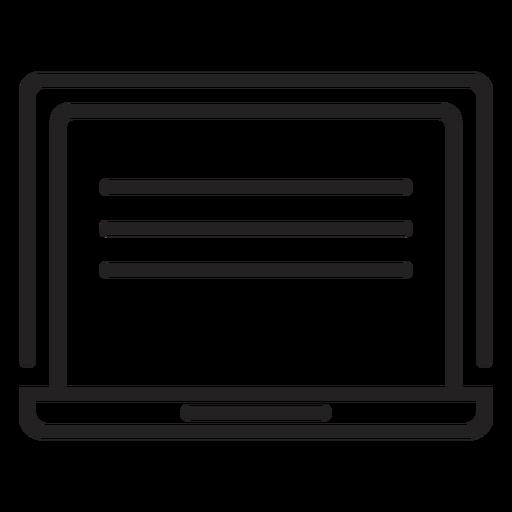 Simple Computer Screen Icon