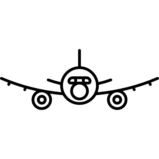 Plane Front View Icons Free Download