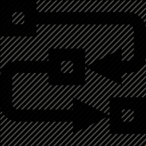 Algorithm, Course, Flux, Methodology, Path, Process, Steps Icon