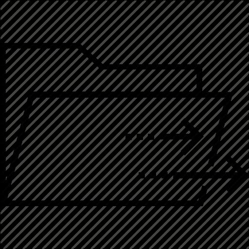 Arrow, Ecommerce, Folder, Input, Procurement Icon