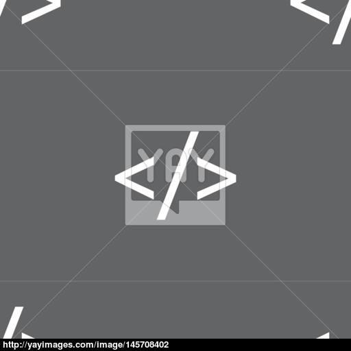 Code Sign Icon Programming Language Symbol Seamless Pattern