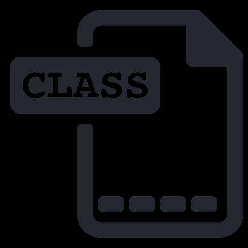 Class, Extension, File, Program, Programming Icon