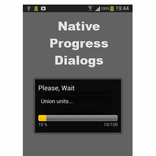 Native Progress Dialogs For Delphi Firemonkey On Android