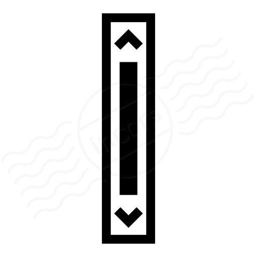 Iconexperience I Collection Scroll Bar Vertical Icon