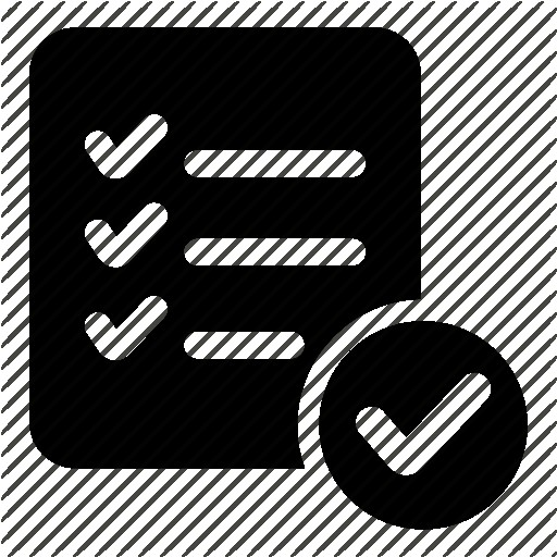 Checklist Icons Noun Project Icon Black And White