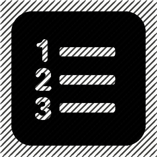Numbered List Icons Noun Project Icon