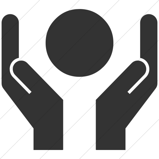 Simple Dark Gray Ocha Humanitarians Cluster Protection Icon