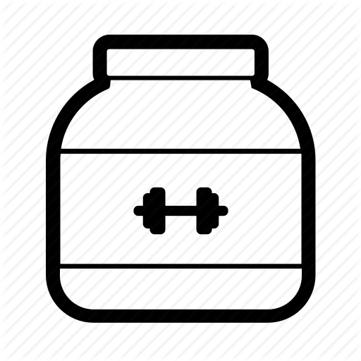 Bodybuilding, Fitness, Gym, Muscle, Powder, Protein, Supplement Icon