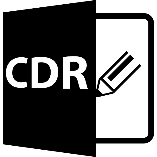 Cdr Format Symbol Icons Free Download