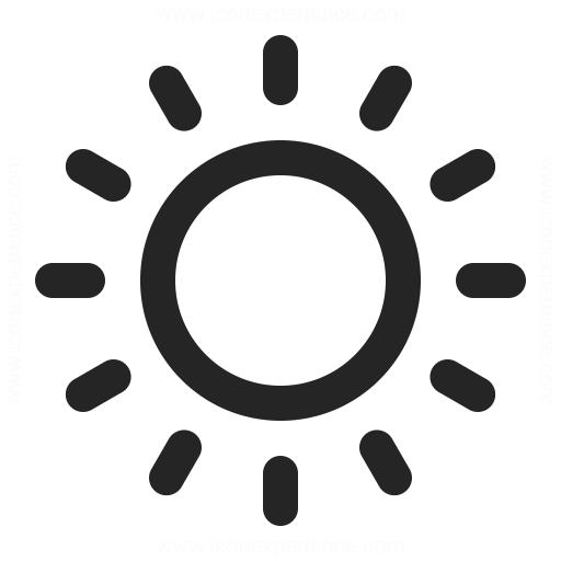 Sun Icon Iconexperience