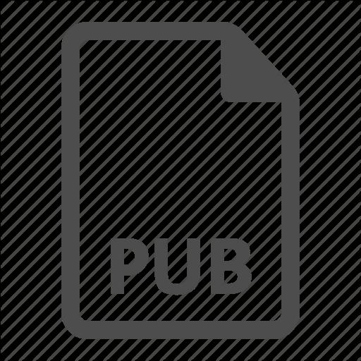 Document, Extension, File, Format, Pub, Publisher Icon